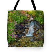 Lewis Monkey Flowers And Cascade Tote Bag