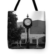 Lewis University Clock In Black And White Tote Bag