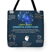 Lewy Body Dementia Symptoms Tote Bag