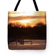 Lexington Harbor Sunset Tote Bag