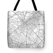 Lexington Kentucky Usa Light Map Tote Bag