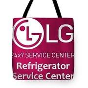 Lg Refrigerator Service Center Tote Bag