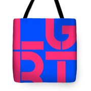 Lgbt Blue And Pink Tote Bag