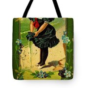 Libbys Bookmark Vintage With Girl On Beach Tote Bag