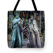 Liberties In Times Square Tote Bag