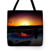Liberty Bay Sunset Tote Bag