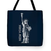Liberty, New York, Popart Tote Bag