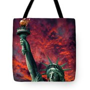 Liberty On Fire Tote Bag