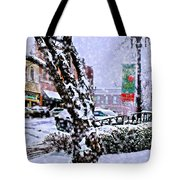 Liberty Square In Winter Tote Bag