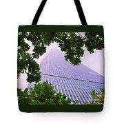 Liberty Tower Framed By Trees Tote Bag