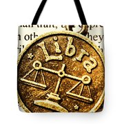 Libra Star Sign Tote Bag