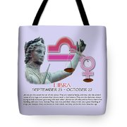 Libra Sun Sign Tote Bag