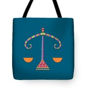 Libra Zodiac Sign Pattern Tote Bag
