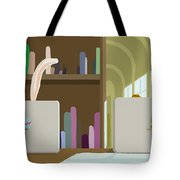 Library And Laptops Tote Bag
