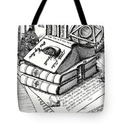 Library Book Fairy House Tote Bag