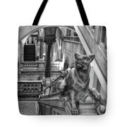 Library Dog Tote Bag