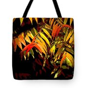 Library Leaves Tote Bag