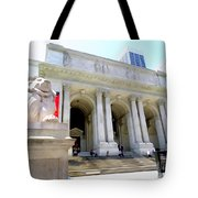 Library Lion Tote Bag