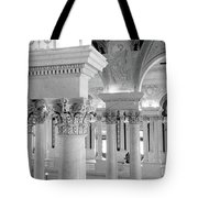Library Of Congress 2 Black And White Tote Bag