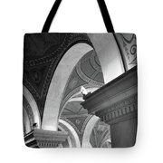 Library Of Congress 3 Black And White Tote Bag