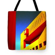 Library On A Clear Day Tote Bag