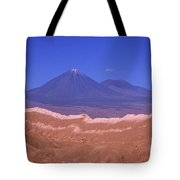 Licancabur Volcano Seen From The Atacama Desert Chile Tote Bag