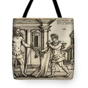 Lichas Bringing The Garment Of Nessus To Hercules Tote Bag
