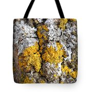 Lichens On Tree Bark Tote Bag