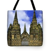 Lichfield Cathedral - The West Front Tote Bag