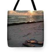 Lido Beach Sandals Tote Bag