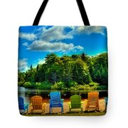 Life In The Adirondack Mountains Tote Bag