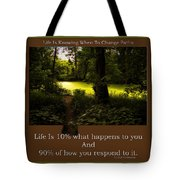 Life Is Knowing When To Change Paths Tote Bag