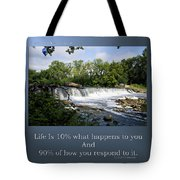 Life Is Staying Above The Debris Tote Bag