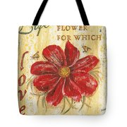 Life Is The Flower Tote Bag by Debbie DeWitt