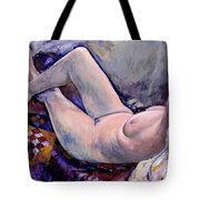 Life Painting With Quilt Tote Bag
