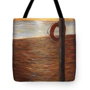 Life Ring At Sunset Tote Bag