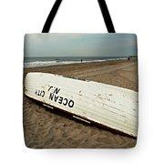 Lifeguard Boat Ocean City, Nj Tote Bag