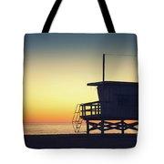 Lifeguard Tower At Sunset Tote Bag