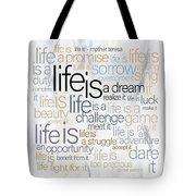 Mother Teresa Life Is Tote Bag