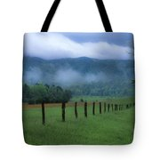 Lifting Fog In Cades Cove Tote Bag