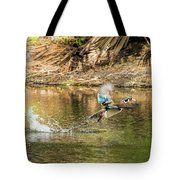 Liftoff In A Blur Of Color Tote Bag