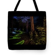 Lighit Painted Forest Scene Tote Bag