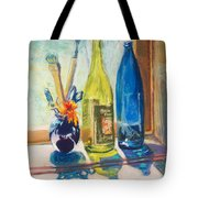 Light And Bottles Tote Bag