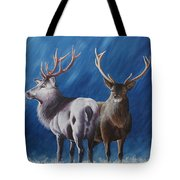 Light And Dark Stags Tote Bag