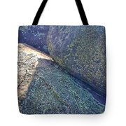 Light And Lichen On Eroded Basalt Tote Bag