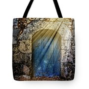 Light At The Blue Door Tote Bag