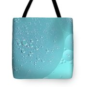 Light Blue Abstract Of Oil Droplet.  Tote Bag