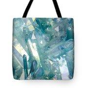 Light Blue Crystals Tote Bag