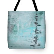 Light Blue Gray Abstract Tote Bag