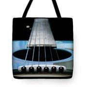 Light Blue Guitar 13 Tote Bag